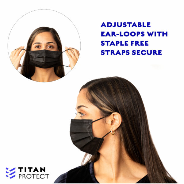 Black Mask Earloop Highlight