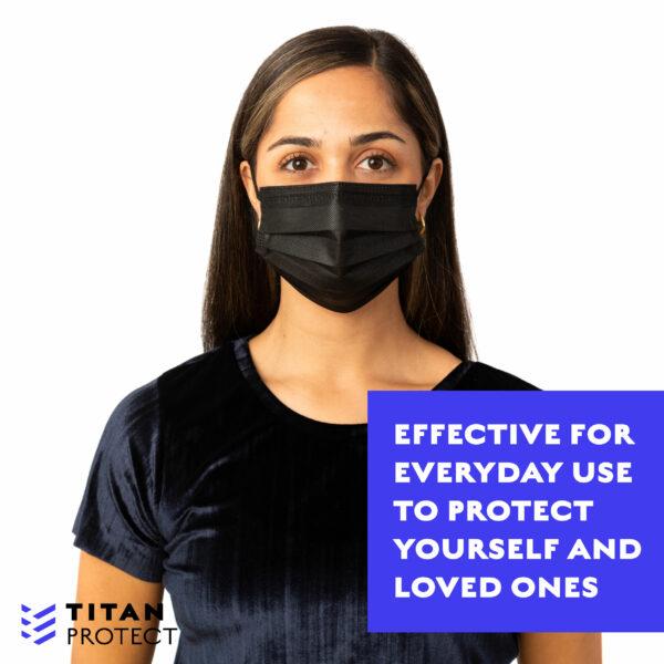 Girl Wearing Black Mask