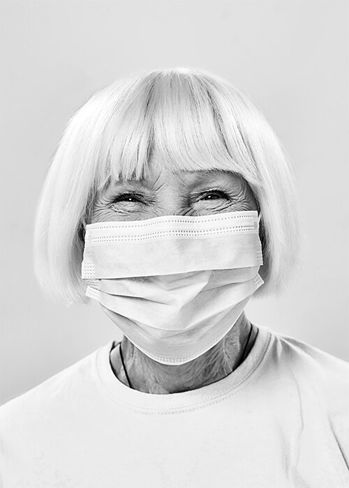 Titan Protect Usa Blonde Woman Wearing Ppe